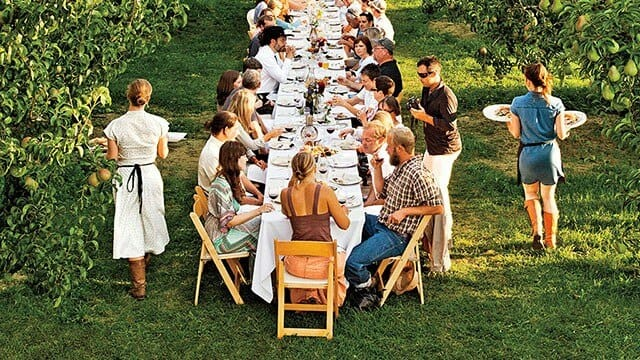 A Farm to Fork Dinner at Kiyokawa Family Farms in Oregon. Photo Credit: Peter Frank Edwards, CN Traveler.
